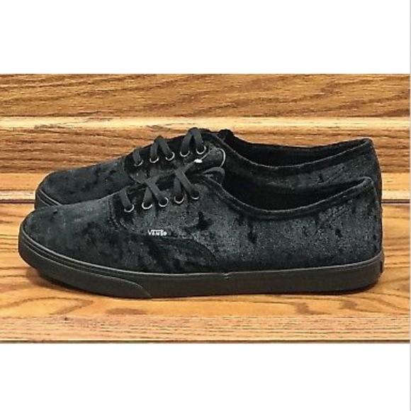 7233369f8278f1 Vans Authentic Lo Pro Velvet Black Shoes